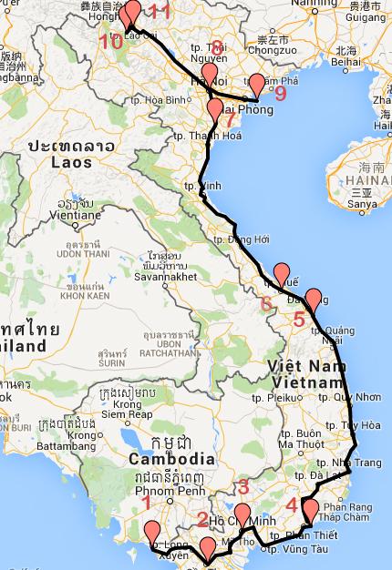 Recorrido-Vietnam