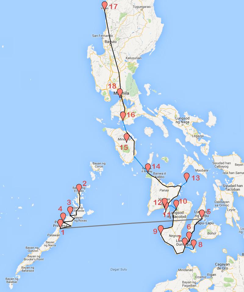 Recorrido Filipinas
