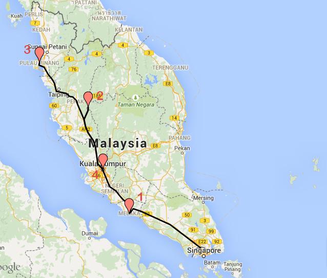 Recorrido Malasia