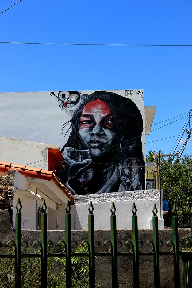 Arte urbano en Cafayate