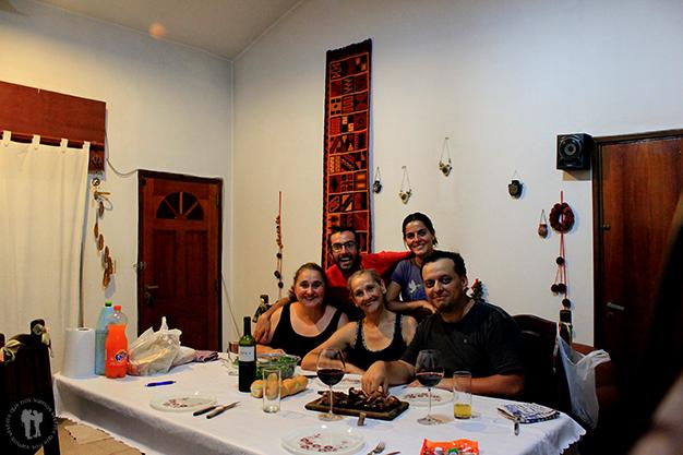 Junto con Gloria, su hermana y Pablo
