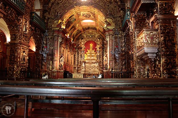 Monasterio de São Bento todo el interior en oro