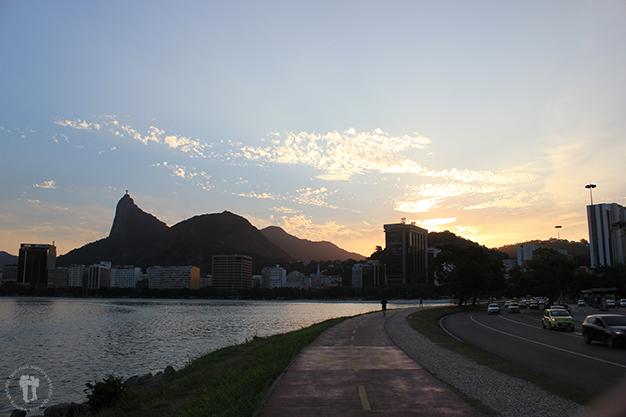 Barrio y Playa Botafogo al atardecer