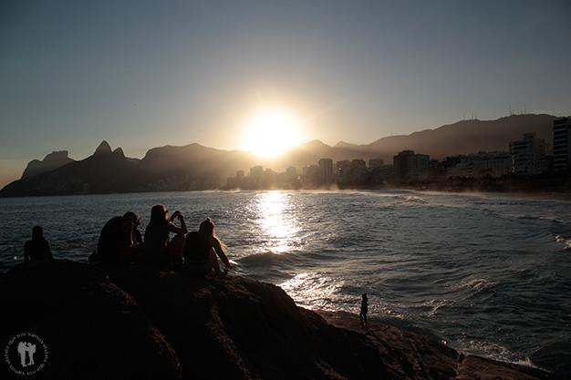 Atardecer en Río de Janeiro desde Ponta do Arpoador