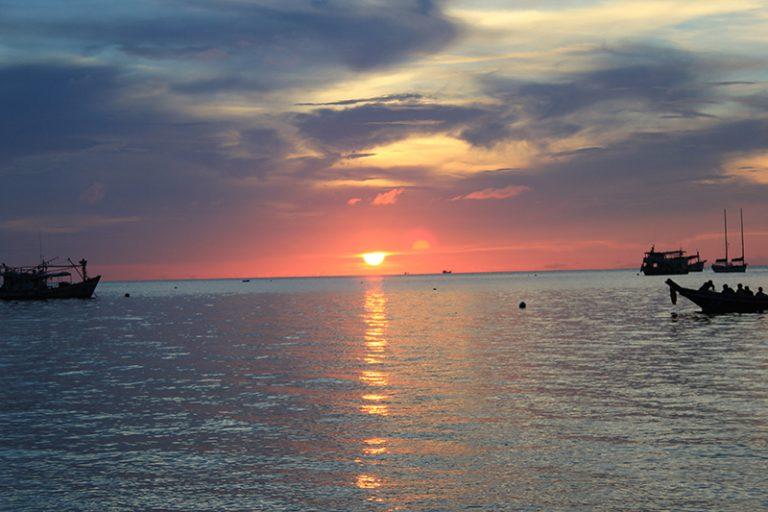 Sunset en Mae Haad Bay