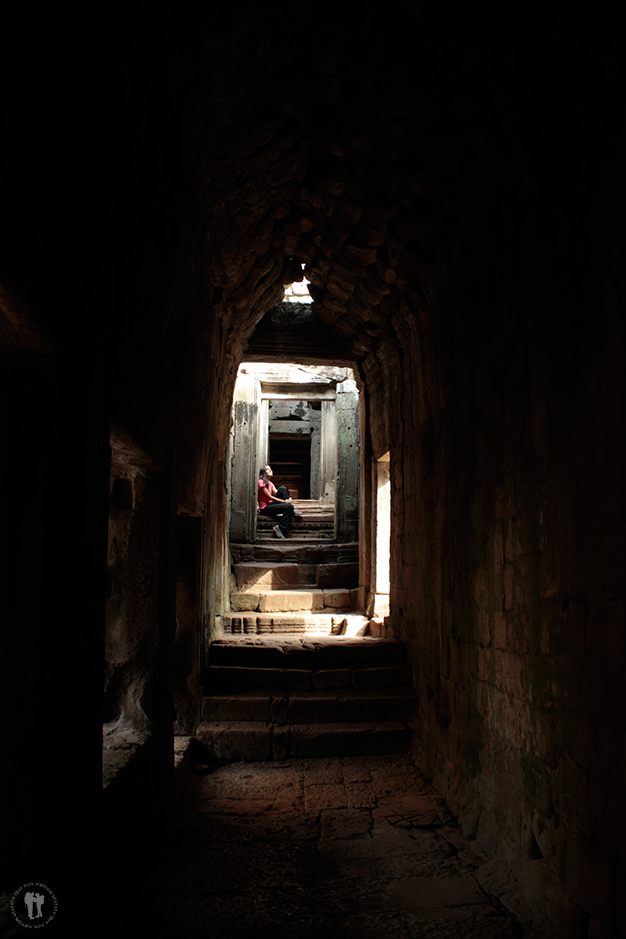 Dentro del templo Bayon