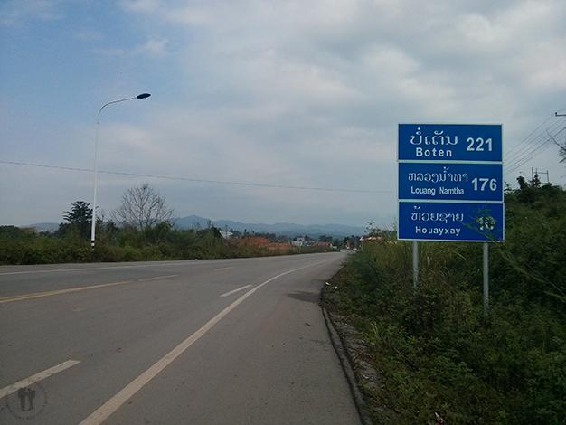 Carretera hacía Huay Xai