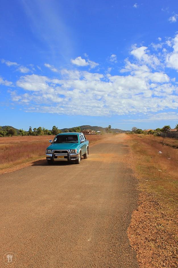 Carretera que cruza la isla