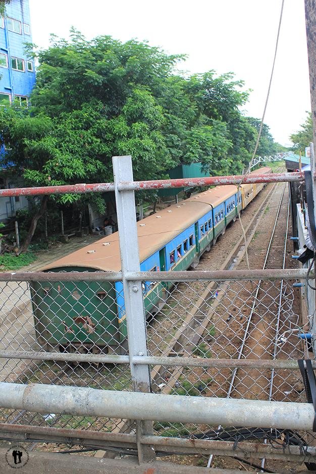 Estación de trenes de Yangón