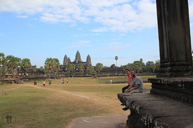 Acabando la larga jornada en Angkor Wat
