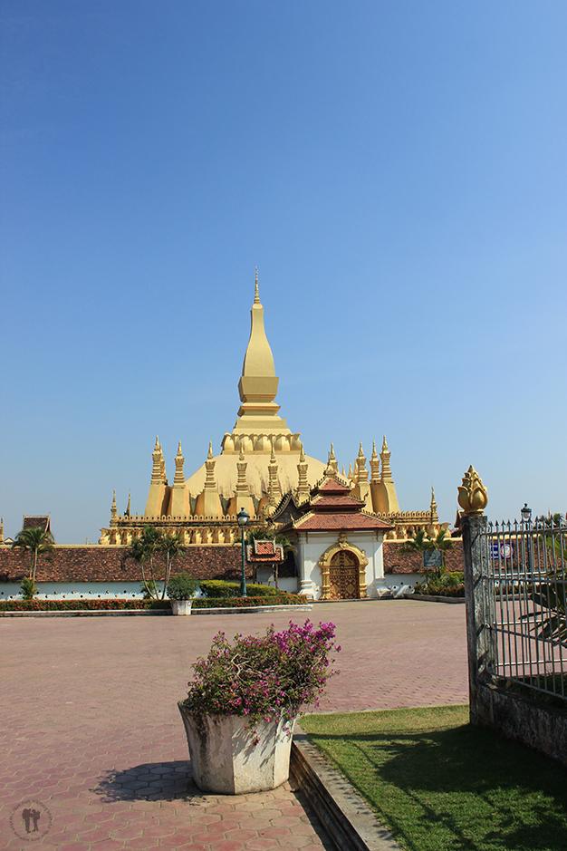 Pha That Luang, símbolo nacional de Laos. Vientián