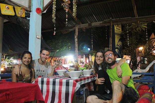 Cenando junto a Andrés y Tita