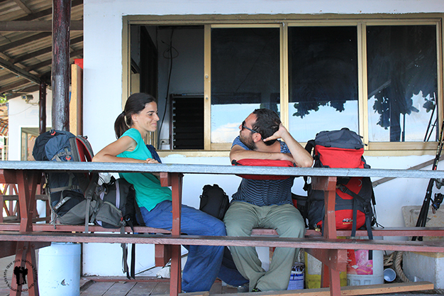 Larga espera al ferry