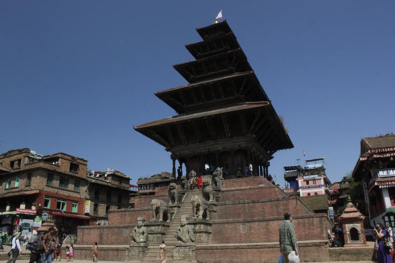 Vista del Templo Nyatapola