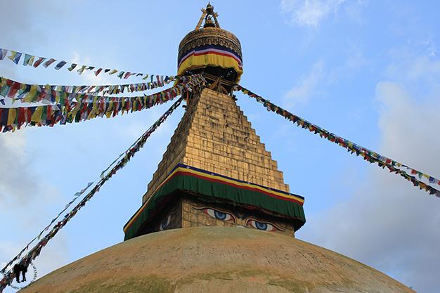 Boudhanath, una de las mayores estupas del país y del mundo