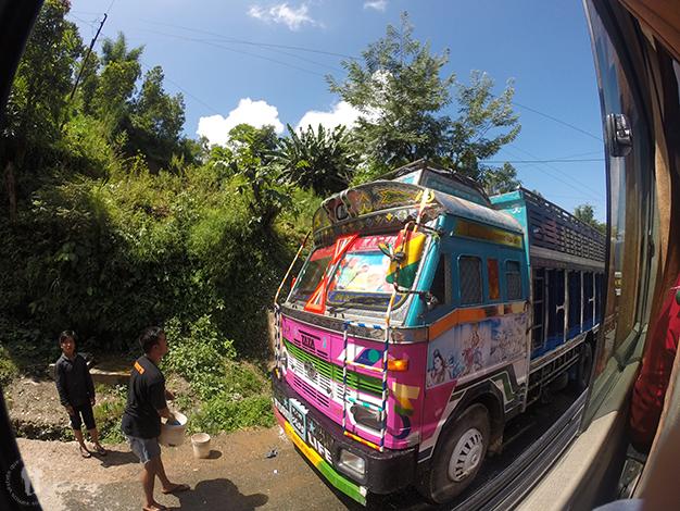 De camino a Pokhara