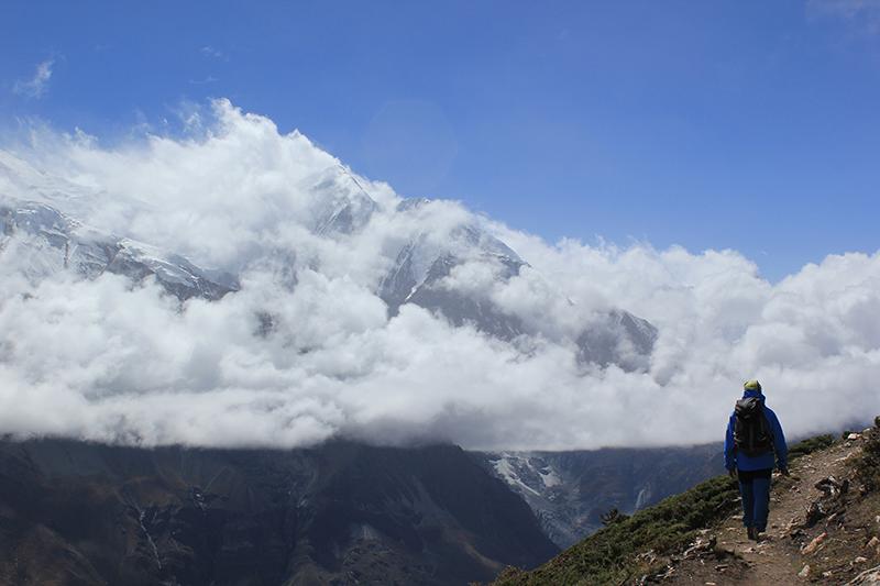 Sendero de Manang a Ice Lake en Nepal