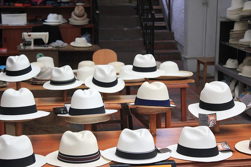 Exposición de Panama Hat en la sombrerería