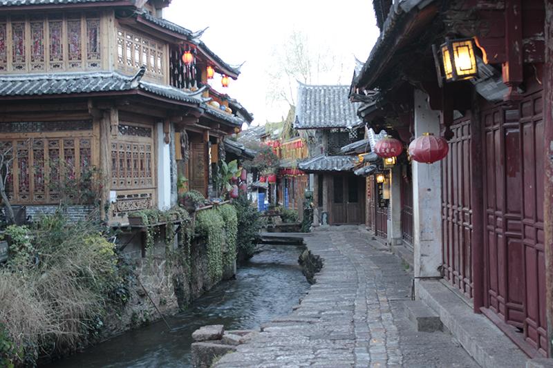Lijiang a primera hora de la mañana