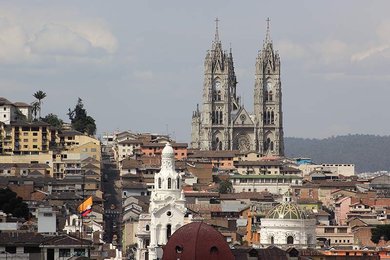 Vistas a la Catedral de Quito