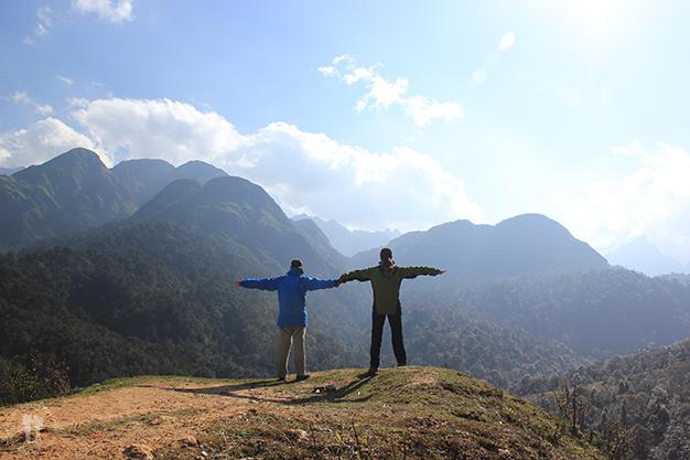 Cerca de las montañas más altas de Vietnam