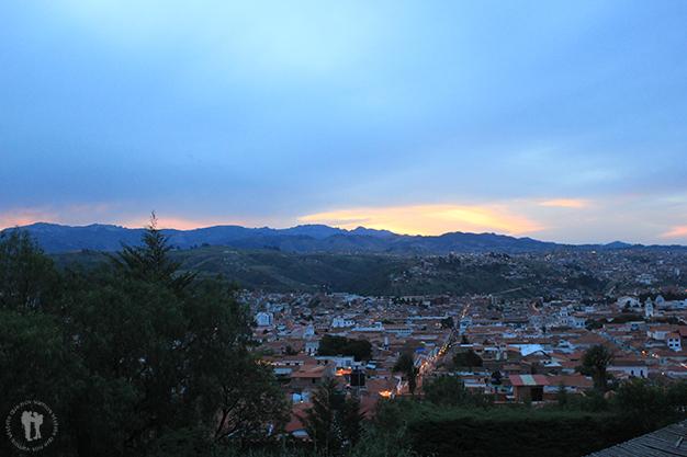 Vistas de Sucre desde el barrio de La Recoleta