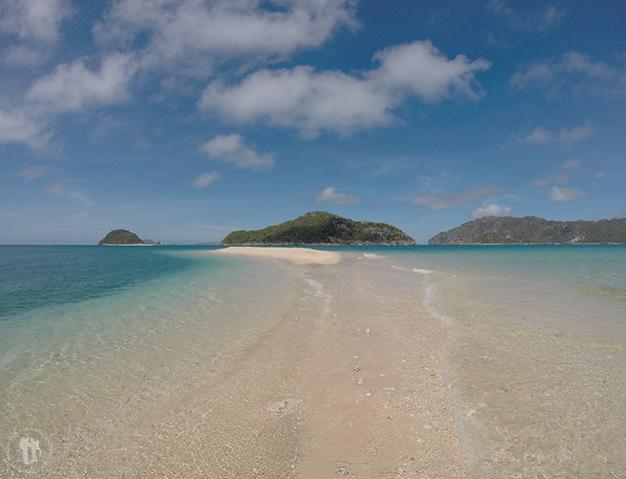Subiendo la marea en la Isla Cabugao
