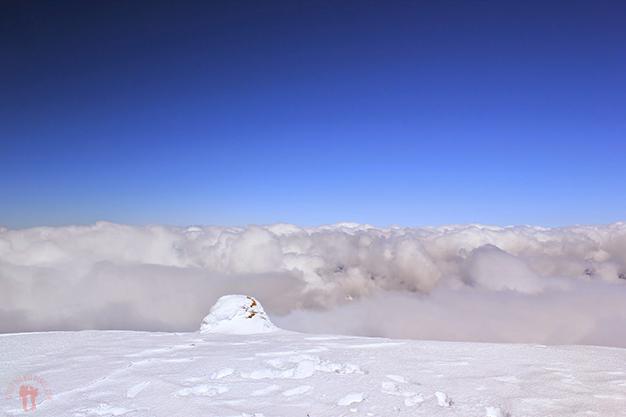 Mar de nubes hacía el lado francés