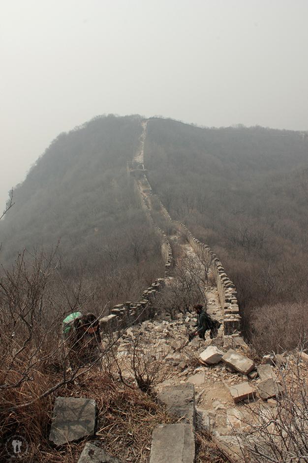 Andando la Gran Muralla China