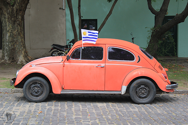 Auto en las calles uruguayas