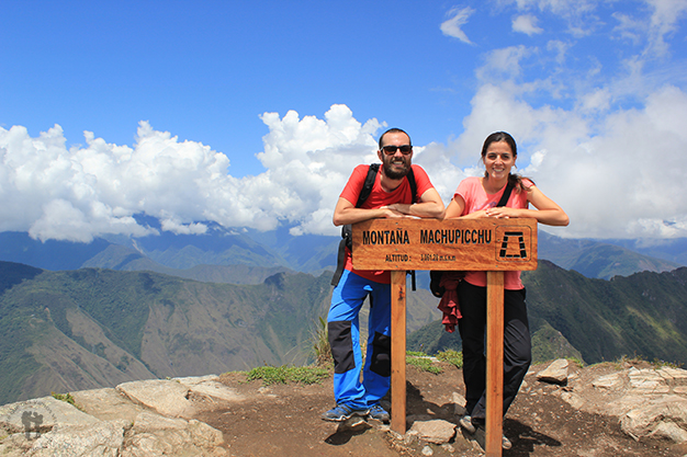 Cima de la montaña Machu Picchu
