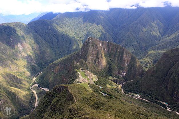 Desde la parte de arriba de la montaña