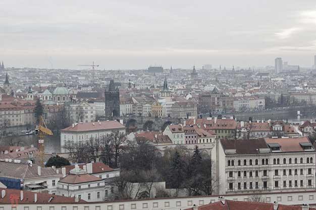 Vistas des del Castillo de Praga