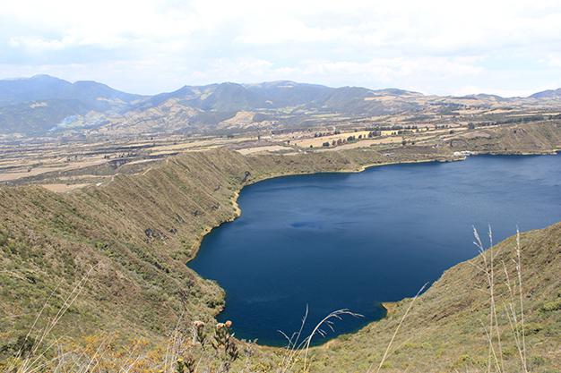 Borde del cráter por donde transcurre el trekk