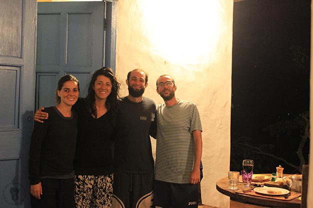 Con Natalia y Olivier en su preciosa casa en los campos de Barichara