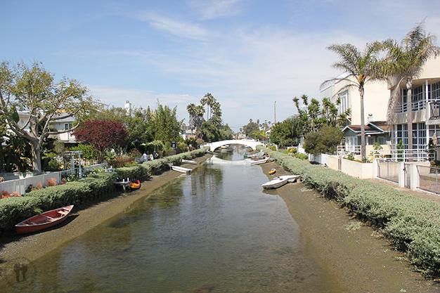 Casas y canales de Venice