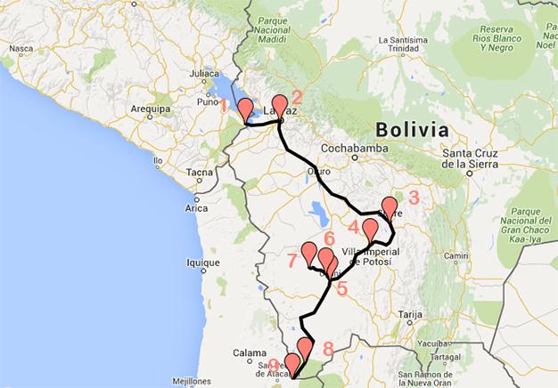 Recorrido Bolivia