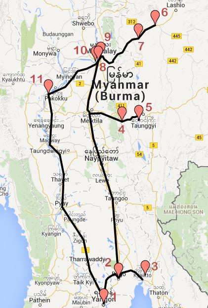 Recorrido por Myanmar