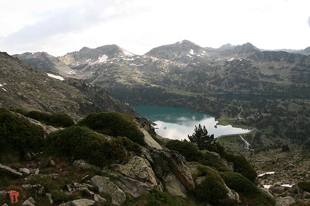 Vistas hacía el Lac d´Aubert y Lac d´Aumar