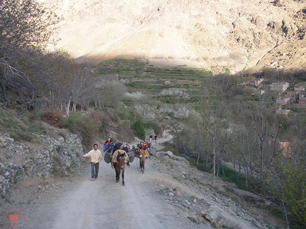 Caminando por la pista hasta Aremd