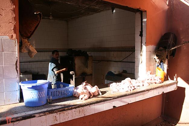 Mercado de comida en el zoco
