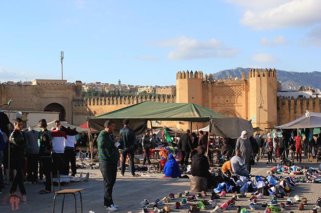 Mercado de segunda mano en Bab Mahrouk
