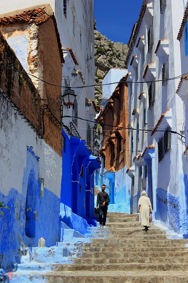 Calles de la medina de Chefchaouen