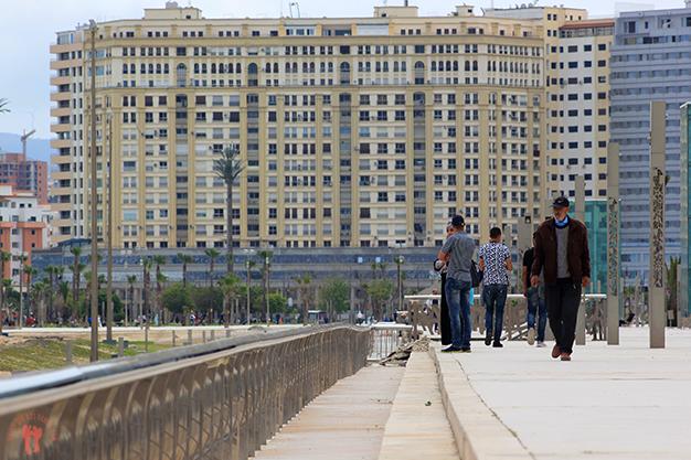 Paseo marítimo de Tánger. Avenida Mohammed VI