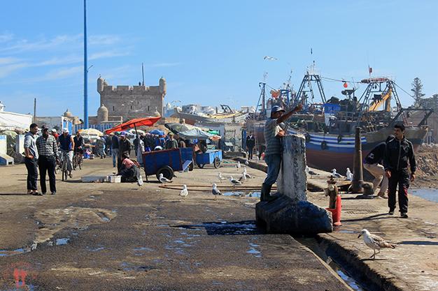 El puerto con la Skala du Port al fondo