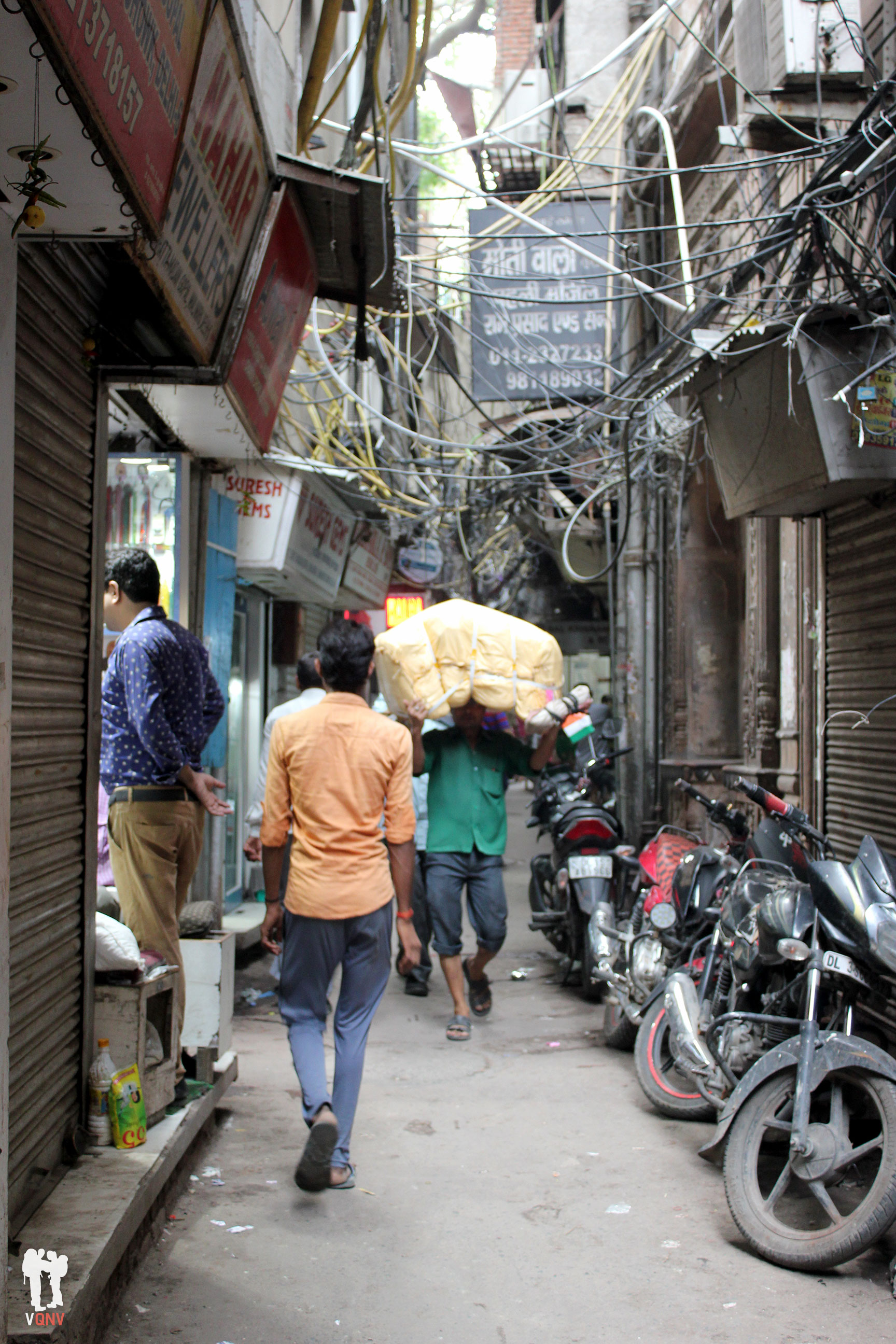 Calle tranquila en Chandni Chowk