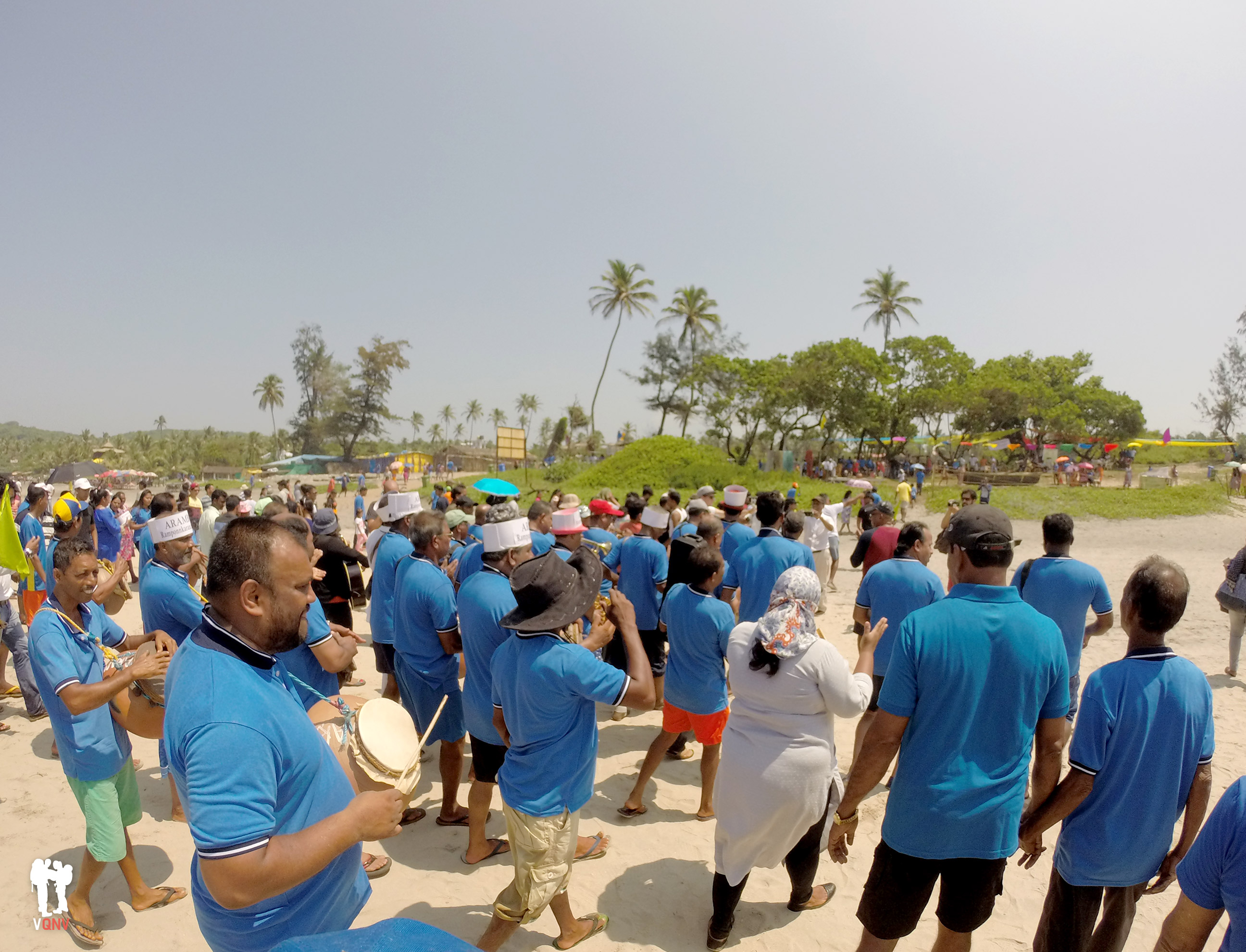 Fiesta tradicional en Arambol
