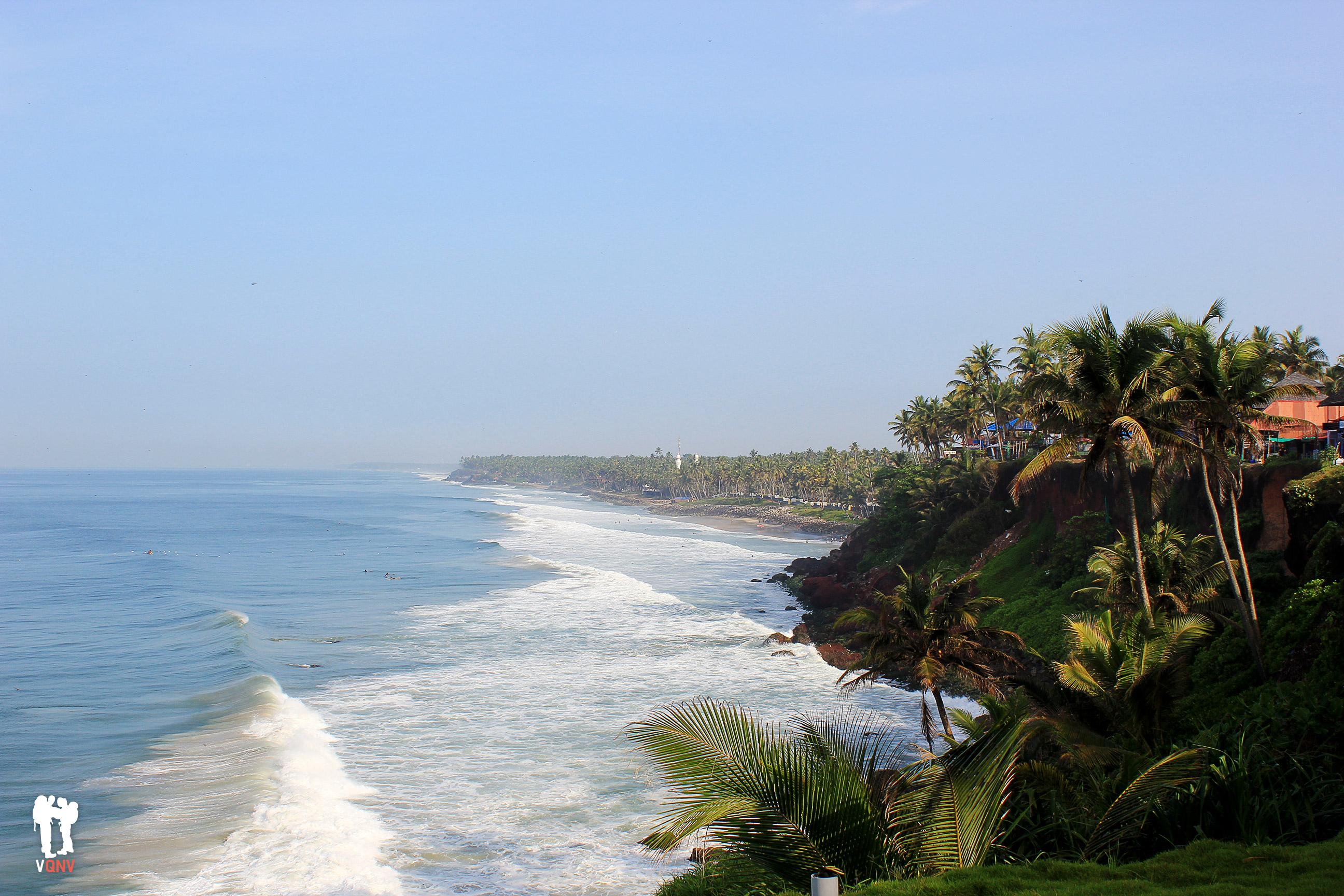 Desde el cliff a Odayam Beach