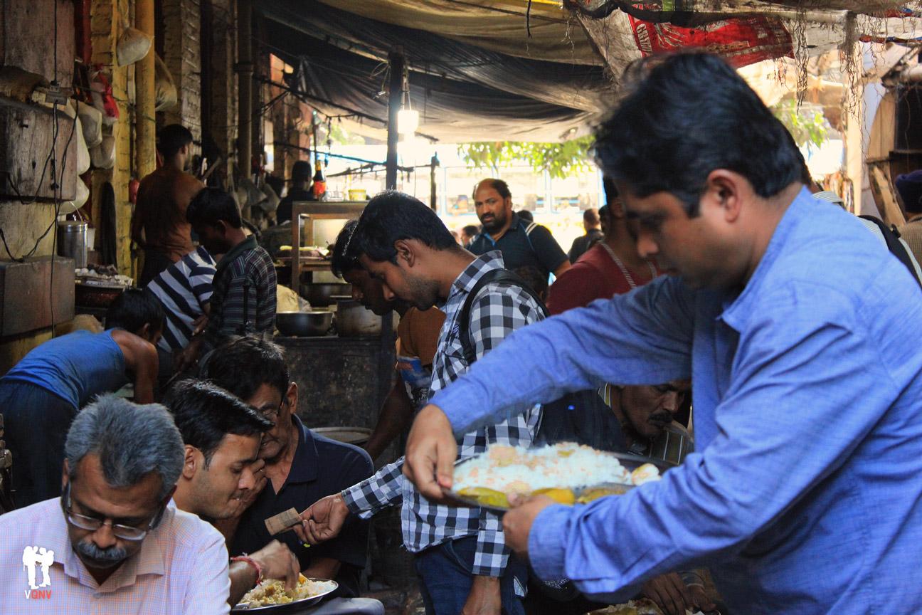 Arroz con pescado y verduras a tan solo 35 rúpias