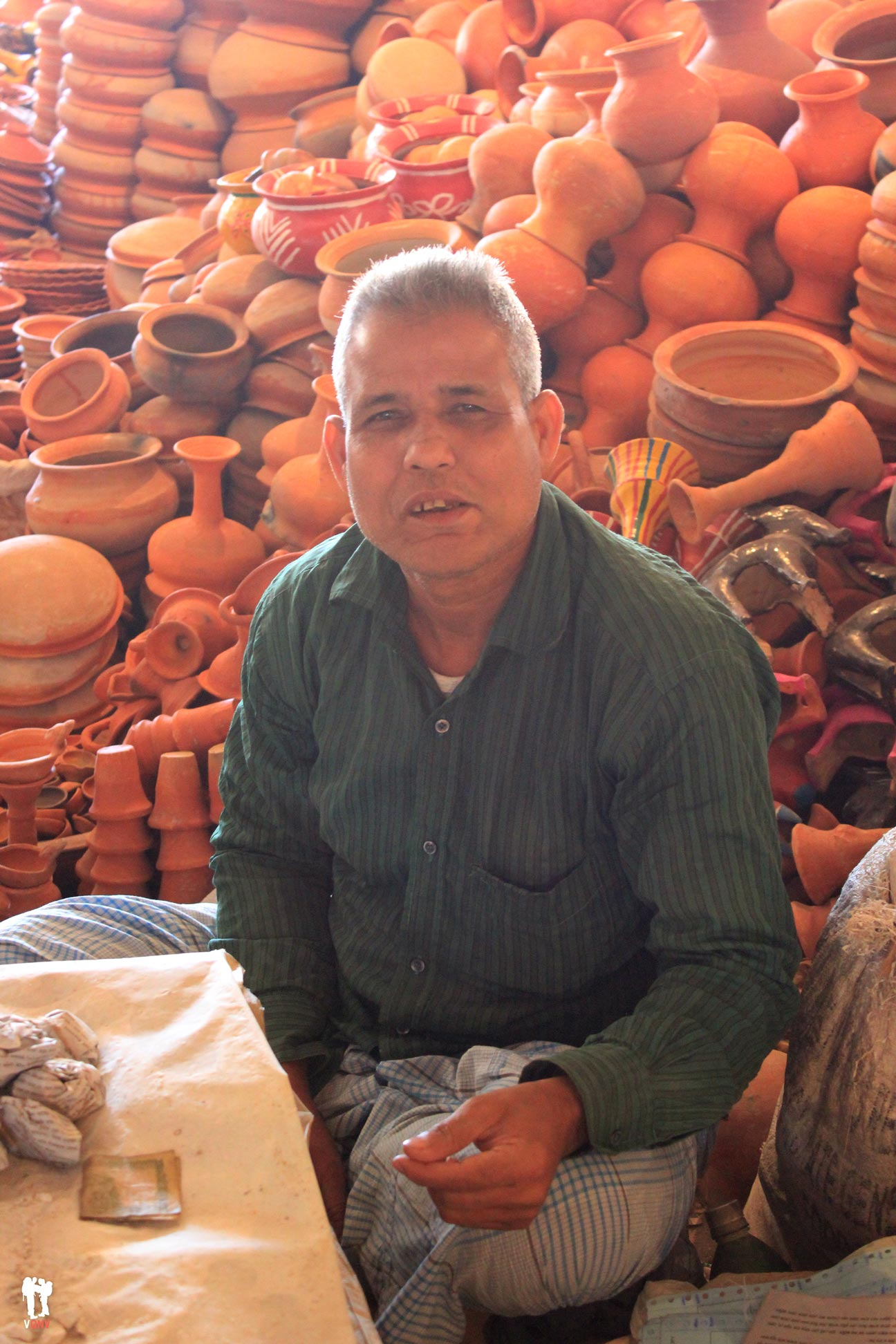 Vendedor de vasijas de barro